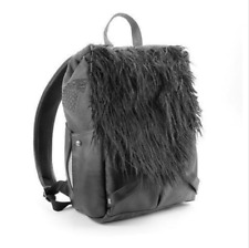 NEW HBO Game of Thrones Jon Snow's Snow Backpack Black Faux Leather Fur Black