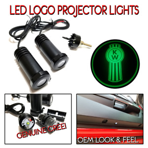 Lumenz C3 LED Logo Courtesy Door Lights Ghost Shadow Kenworth KW 100649 Green