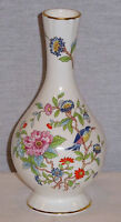 "AYNSLEY BONE CHINA  PEMBROKE PATTERN BUD VASE 6"" TALL NEW"