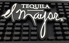 """EL MAYOR Tequila Black Rubber Rail MAT Bar Spill Gutter 24"""" x  3"""""""
