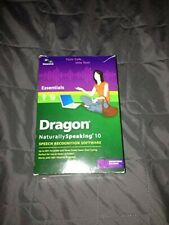 New Nuance Dragon Naturally Speaking 10 Essentials with Microphone