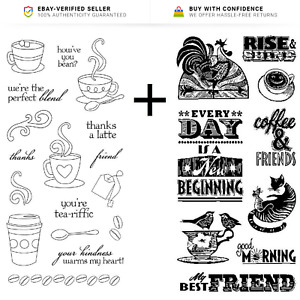 Coffee Cup Stamps - Coffee & Friends, Kindness, Everyday is a New Beginning