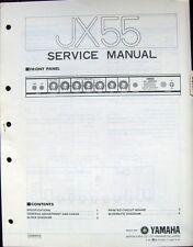 Yamaha JX55 Guitar Amplifier Original Service Manual, Schematics Parts List Book