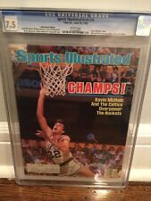 June 16, 1986 Kevin McHale Boston Celtics Sports Illustrated CGC 7.5 none higher