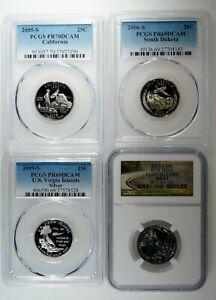 PCGS & NGC Graded 25c Quarter Lot Deep Cameo / Silver / PR70 69 & MS 67 Coins