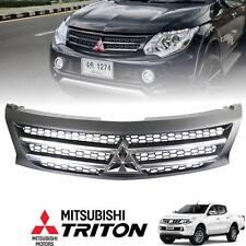 Front Black Bar Grille Chrome Logo Mitsubishi Triton L200 MN ML 14 15 16