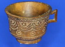 More details for antique scandinavian carved wood cup, wideth: 2¼ inch  [22168]