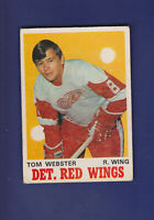 Tom Webster RC 1970-71 O-PEE-CHEE OPC Hockey #155 (VGEX+) Detroit Red Wings