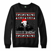 LET IT SNOW JON SNOW CHRISTMAS Jumper Game Of Thrones Xmas Adult Kids Jumper Top