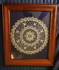 """Matted And Framed Kloppelei German Bobbin Lace 14""""X17"""""""
