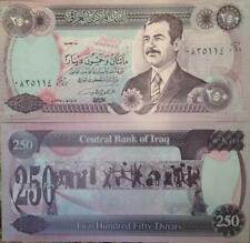 Iraq 250 Dinars Uncirculated note 1995 Emergency Issue