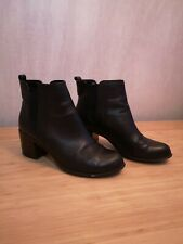 Black M&S Autograph Real Leather Chelsea Boots Size UK 6