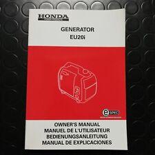 Manuale manual libretto uso manutenzione generatore generator EU 20 i - 2013