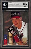 1993 Upper Deck SP Foil #280 Chipper Jones HOF Atlanta Braves BGS 8.5 NM-MT +