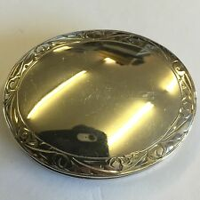 Vintage Antique Style Solid Silver Oval Pill / Trinket Box 4.5cm