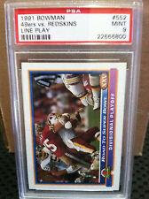 1991 Bowman # 552 49ers VS Redskins Line Play PSA MInt 9....22666800
