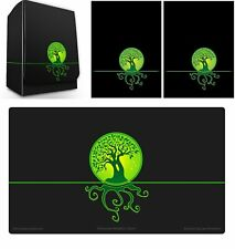 100 Max Pro MTG Size Image Sleeves DeckBox Playmat ELEMENTAL ICONIC GREEN LIFE