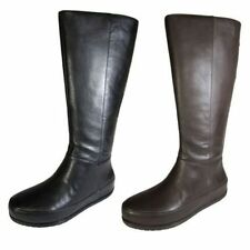 Solid Knee High Zip Boots for Women