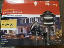 SET OF 5 MALIBU Landscape Lighting Kit Low Voltage 3 FloodLight 2 Garden Lights