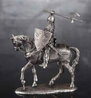 Zinnfigur. Equestrian knight Miniature figurine of a RIDER. Toy soldiers. 6091Az