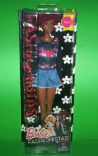 """Barbie Fashionistas 33 Fab Fringe Tall African American 12"""" Mattel Doll"""