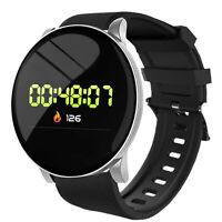 Smart Watch Uomo Donna Frequenza cardiaca Pressione sanguigna Ossigeno Fitness