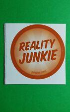"REALITY JUNKIE ORANGE TV GETGLUE GET GLUE SMALL 1.5"" STICKER"