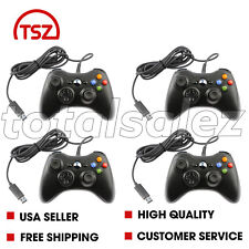 4 For Xbox 360 Black USB PC Windows Video Game Pad Controller Remote PC Windows