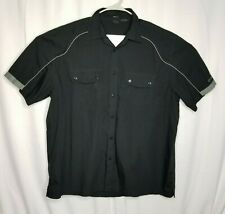Oakley Men's Size XXL Short Sleeve Button Up Black/Gray Casual Loose Fit Shirt