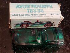 Vintage Avon Wild Country 1956 Triumph Tr3 Green Glass Car Cologne Empty Bottle