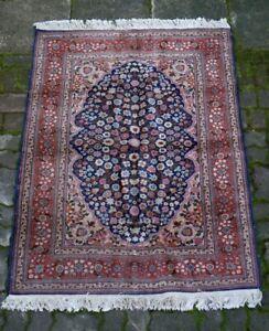 schöner alter Teppich Orientteppich handgeknüpft 170x120 cm t20