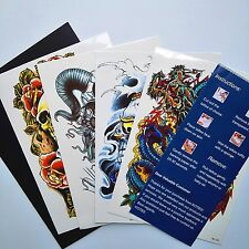 Large Temporary Tattoos Skull Dragon Big Size Tattoo Sticker Fake Tatoo -4 Sheet