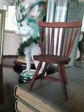 antique miniature windsor fan back chair handmade nice turnings 3 1/2 in high