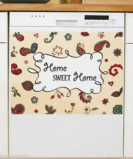 Paisley Floral Home Sweet Home Dishwasher Magnet Magnetic Cover Kitchen Decor