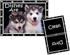 DOG DISHWASHER MAGNET (Siberian Husky) - Clean/Dirty *Ship FREE