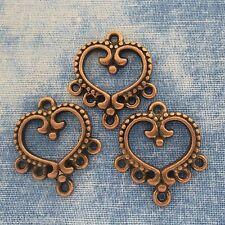 Antique Copper Alloy Metal Chandelier Connectors 8 Pieces  21.6mm  #0388