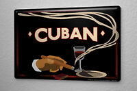 Tin Sign Bar Restaurant Decoration  Cuba Cigar red wine 8X12""