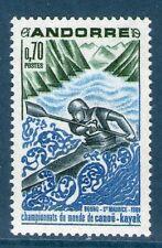 ANDORRE TIMBRE 196 NEUF XX QUALITE LUXE - CHAMPIONNAT DU MONDE DE CANOE KAYAK