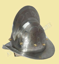 European Comb Morion Spanish Helmet (ETCHED) for re-enactment / larp / role-play