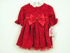 Baby Girls Dress Red Sparkle Sz 3-6 months Dressy Holiday Youngland NWT