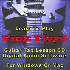PINK FLOYD Guitar Tab Lesson CD Software - 130 Songs