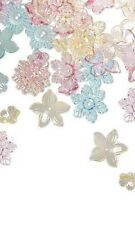 Lot of 240 Plastic Acrylic Center Hole Flower Beads Assorted Shapes & Sizes