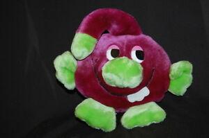 "Smiling Grape Purple Green Big Eyes Plush 11"" Princess Soft Toy Lovey"