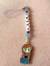 DISNEY FROZEN ANNA  DS MOBILE PHONE BAG CHARM PERSONALISED ANY NAME KITSCH GIFT