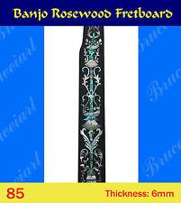 Free Shipping, Banjo Part - Rosewood Fretboard w/MOP Art Inlay (85)