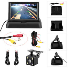 "Wired HD Car Reversing Camera 170° 4.3"" LCD Monitor Rear View Night Vision"