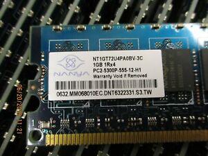NANYA - NT1GT72U4PA0BV-3C - 1GB, 667MHZ, PC2-5300, UnbUffered ECC, DDR2 Dimm Mem