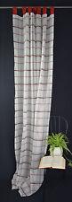 Vorhang Matera Schlaufenschal mit U-band - 140 X 245 Cm Rot-grau