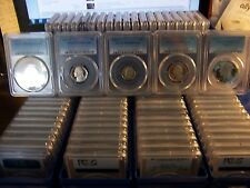 (LOT OF 40) PCGS PR 69DCAM GRADED COINS-& BOX-1c-5c-10c-25c-50c coins #car1