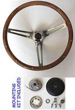 "Blazer C10 C20 C30 Truck Grant Wood Steering Wheel SS Spokes Red/Black cap 15"""